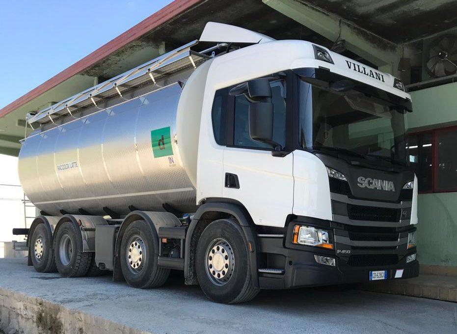 scania trasporto latte